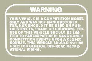 """""""Warning"""" デカールセット"""