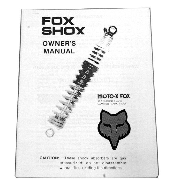 FOX ガスショック マニュアル