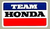 Team Hondaデカール(ラージ)