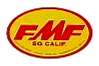 FMF Ovalデカール(イエローベース)(スモール)