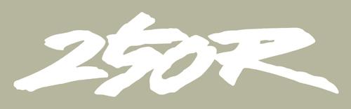 1991 Honda XR250R シートステンシル
