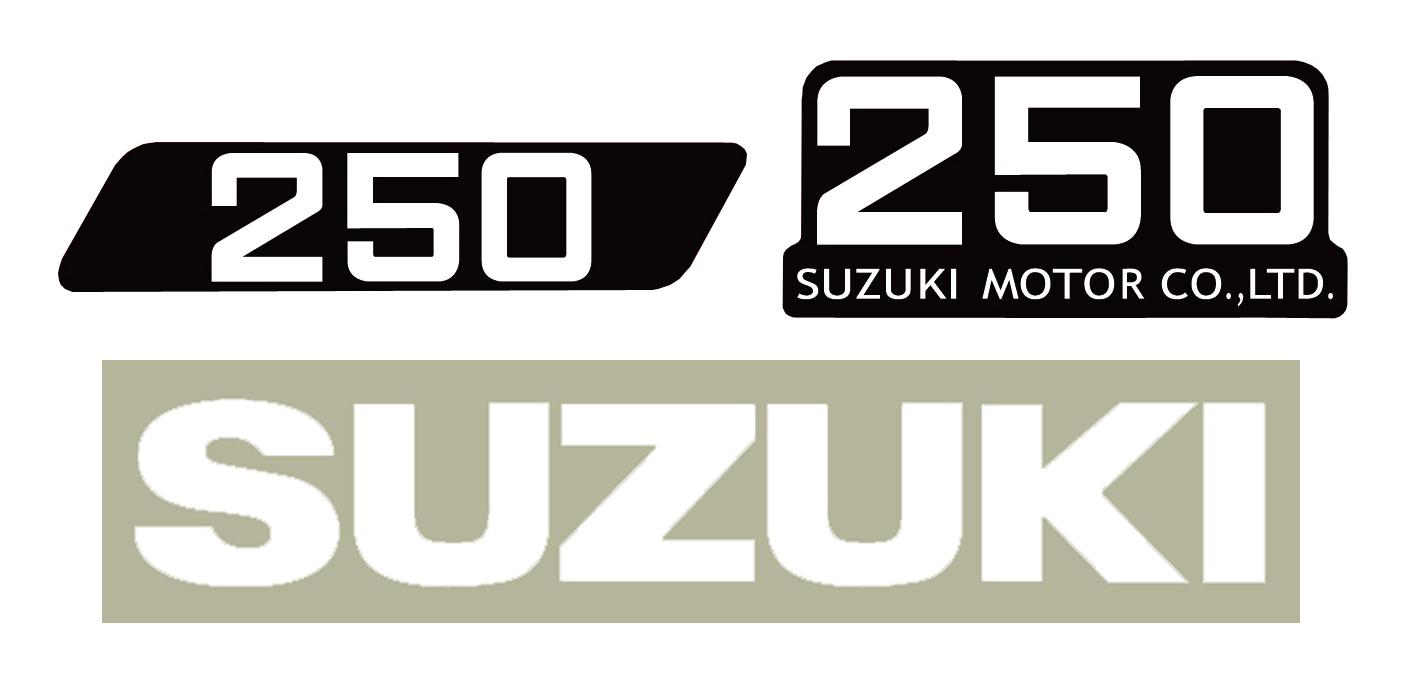SUZUKI ハスラー250 9型 タンク&サイドパネル&マフラーカバーデカールセット(タンク:白デカール)(4pcs)