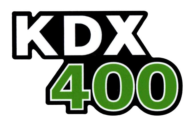 KDX400 サイドパネルデカール(PR)