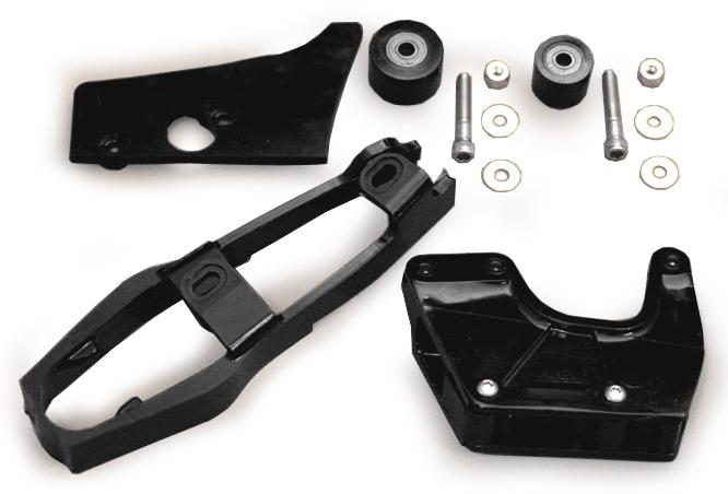1983-84 CR125 1984 CR250/500 チェーンスライダー&ローラーセット(黒)