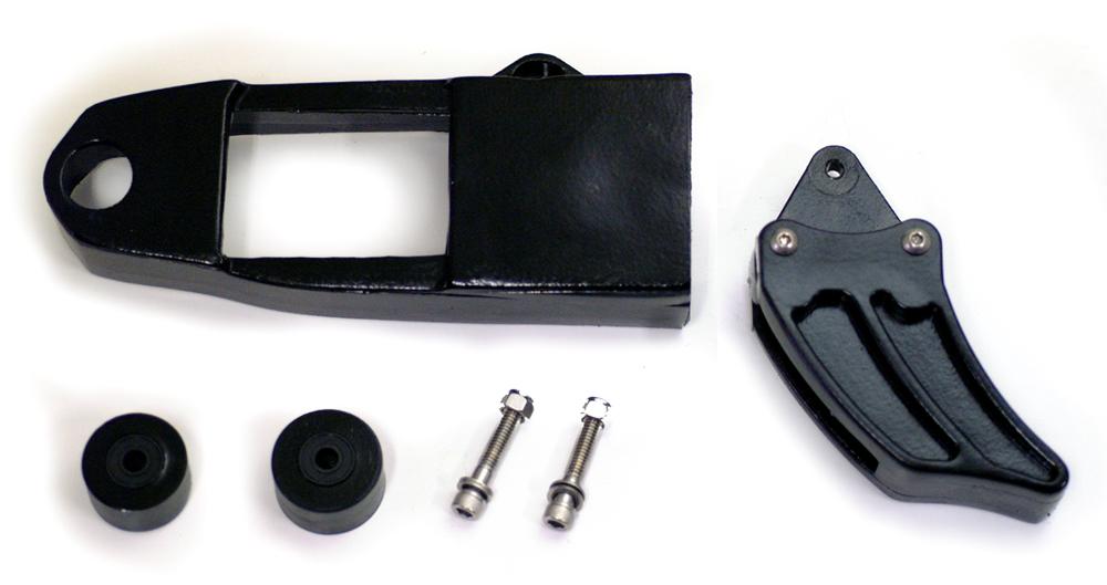 1980-81 KX125/250/420 チェーンスライダー&ローラーセット(黒)