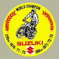 SUZUKI World Champion デカール