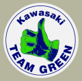 KAWASAKI Team Green Vintage Circle デカール