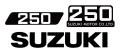 SUZUKI ハスラー250 9型 タンク&サイドパネル&マフラーカバーデカールセット(タンク:黒デカール)(4pcs)
