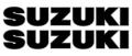 "1975 RM125 ""SUZUKI"" タンクデカール(PR)"