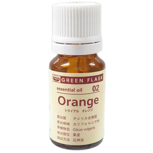 グリーンフラスコ オレンジ