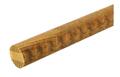 35木製手すり アッシュ丸棒ディンプル付 Mブラウン