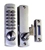 デジタルロック スーパースリム30 引戸・ドア兼用玄関錠 シルバー《H-04-5》
