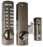 デジタルロック スーパースリム30 引戸・ドア兼用玄関錠 ブロンズ《H-04-4》