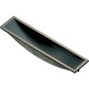 黄銅製フチナシ引手  105mm 銀ブロンズ(黒)