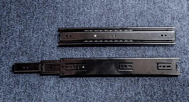三段引き スライドレール K1200-450 ブラック【即日出荷】【店頭受取対応商品】