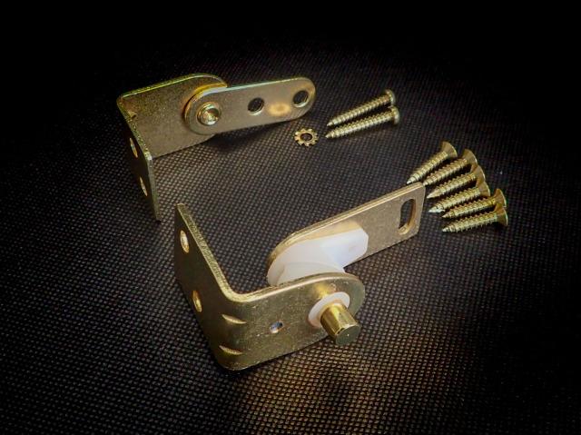 スイングロックヒンジ スタンダード工業 5250型 ウエスタン扉丁番 カウンター丁番 ゴールド 片開き《H-06-1》上下1セット