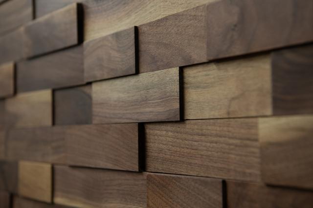 ラスティックパネル 天然木壁材 ウォールナット 18枚入り/0.5坪【送料無料】