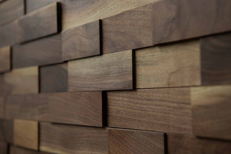 ラスティックパネル 天然木壁材 ウォールナット 1枚単位