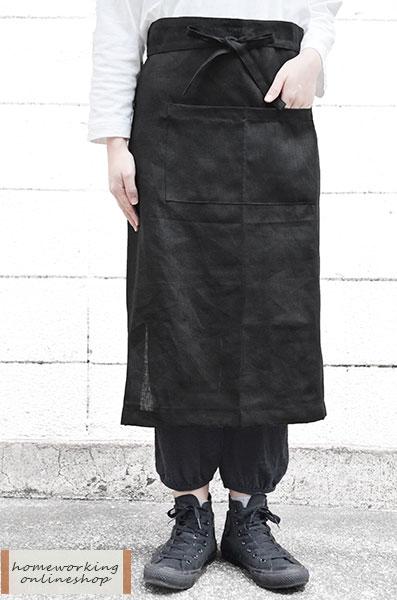 【メール便可1点まで】【fog linen work】リネンギャルソンエプロン(全2色)