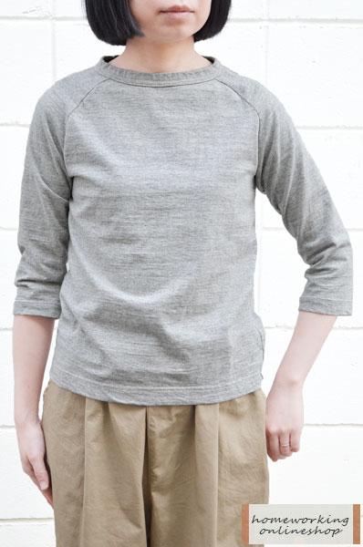 【再入荷】【メール便送料無料】Dana Faneuil プレミアムラ糸7分袖クルーネックプルオーバー(全2色2サイズ)