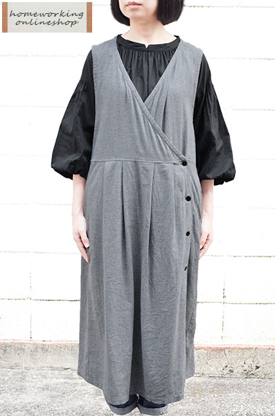 【送料無料】ビエラシャンブレー起毛 カシュクールジャンスカ(全2色)