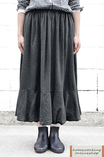 【SALE最終値下げ50%OFF】ビエラシャンブレー起毛 バルーンスカート(全2色)