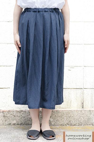【SALE30%OFF】リネンレーヨンタックスカート(全3色)