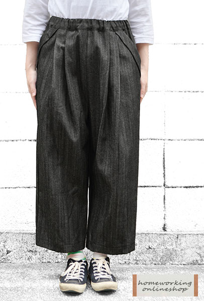10ozムラ糸デニム2タックパンツ(全2色)
