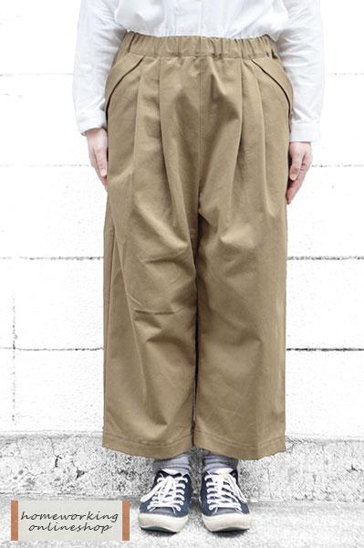 ツイルピーチ起毛2タックパンツ(全2色)