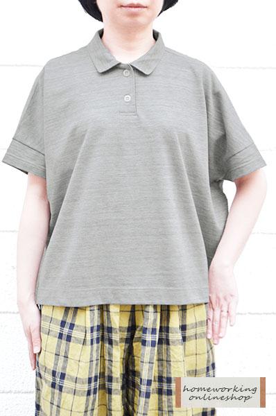 【メール便送料無料】TOPスラブカノコワイドポロシャツ(全2色)