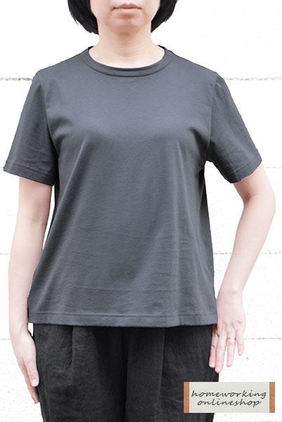 【メール便可1点まで】天竺タンブラー仕上げAライン5分袖Tシャツ(全4色)