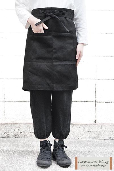 【メール便可1点まで】【fog linen work】リネンミディエプロン(全2色)