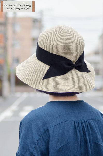 【SALE再値下げ40%OFF】リボンキャペリンハット(アイボリー)