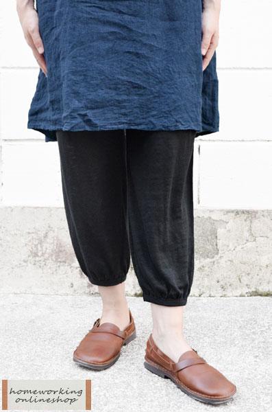 【送料無料】リネン天竺 ギャザーアンダーパンツ(全2色)