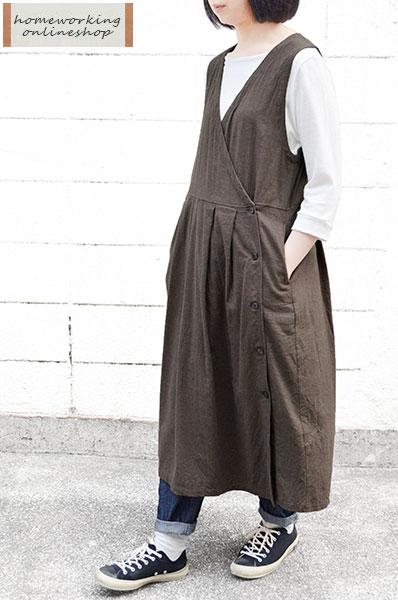 【SALE再値下げ40%OFF】ビエラシャンブレー起毛 カシュクールジャンスカ(全2色)