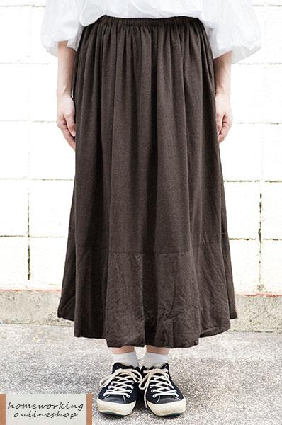 【送料無料】ビエラシャンブレー起毛 バルーンスカート(全2色)
