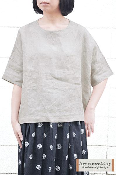 【メール便送料無料】リネンワイドプルオーバー(全3色)