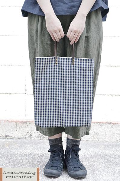 【2点までメール便可】ギンガム ミニバッグ(全2色)