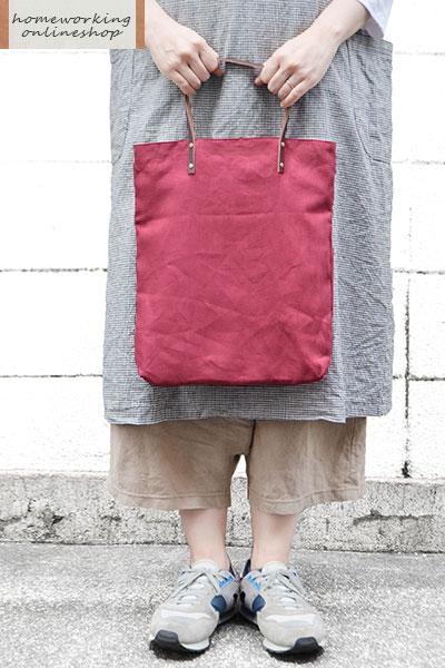 【2点までメール便可】カラーリネン ミニバッグ(全3色)