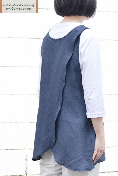 【再入荷】【メール便送料無料】リネンミニクロスエプロン(全3色)