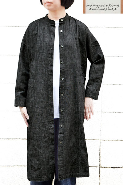 【送料無料】8ozデニムコートワンピース(全2色)
