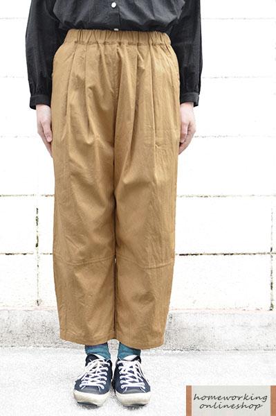 【SALE再値下げ40%OFF】コットンオックス裾切替パンツ(全3色)