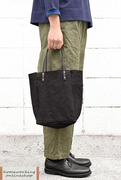 【再入荷】【メール便可1点まで】硫化染ワッシャーデイリーバッグ(全2色)
