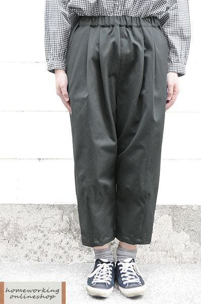 【SALE2点以上で10%OFF】【最終値下げ50%OFF】20/10ツイルストレッチ裾ダーツパンツ(全3色)