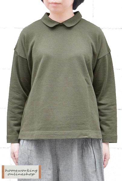 【SALE30%OFF】デニム調裏毛衿つきプルオーバー(全2色)【メール便可1点まで】
