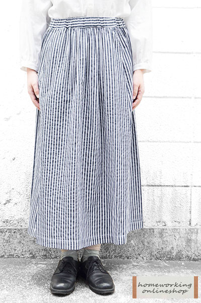 サッカーストライプフレアスカート(全2色)