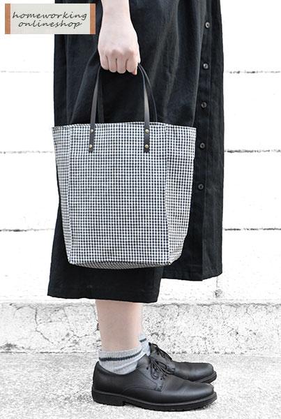 先染めコットンリネンデイリーバッグ(全2色)【2点までメール便可】