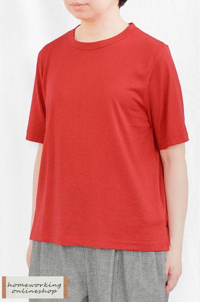 【SALE最終値下げ50%OFF】天竺タンブラー仕上げAライン5分袖Tシャツ(全4色)【メール便可1点まで】