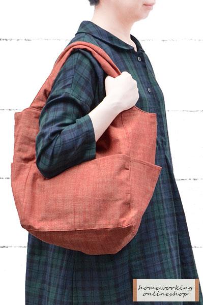 先染スラブワッシャー ポケットキューブバッグ(全2色)【メール便可1点まで】