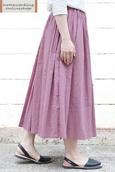 【送料無料】ウルトラワッシャーガーゼギャザースカート(全2色)